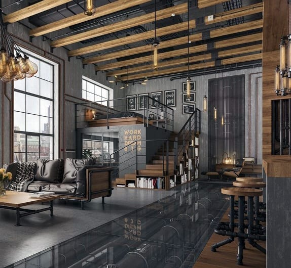 Home Decor Shop Design Ideas: Top 50 Best Industrial Interior Design Ideas