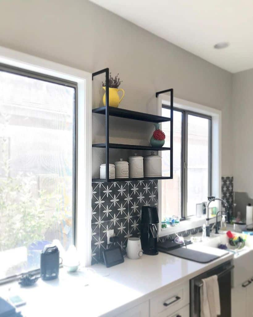 industrial kitchen shelving ideas tati_creates