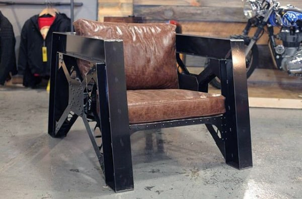 Industrial Leather Man Cave Furniture Chair Ideas