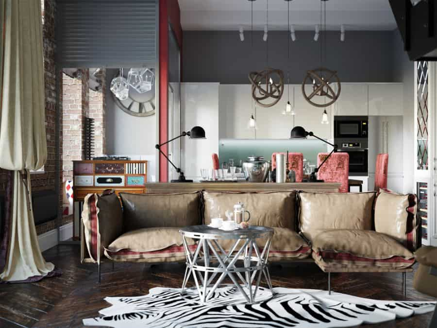 Industrial Living Room Decorating Ideas 5