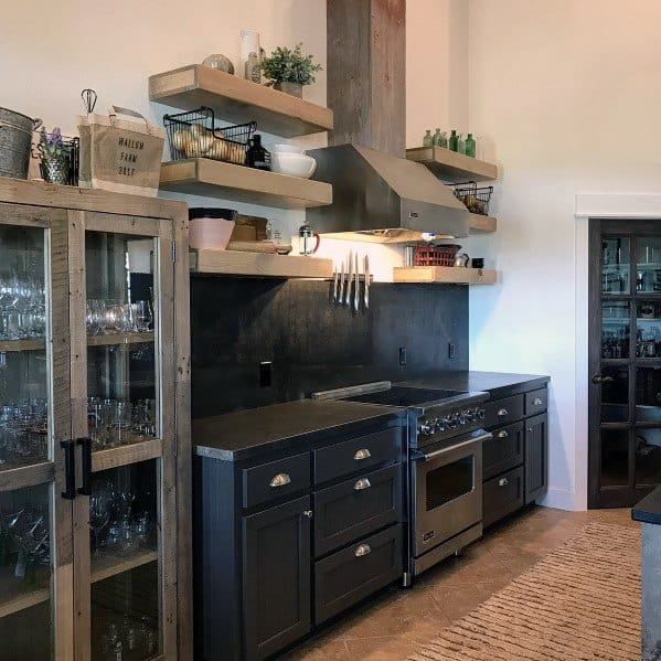 Industrial Look Unfinished Mild Steel Metal Backsplash Ideas