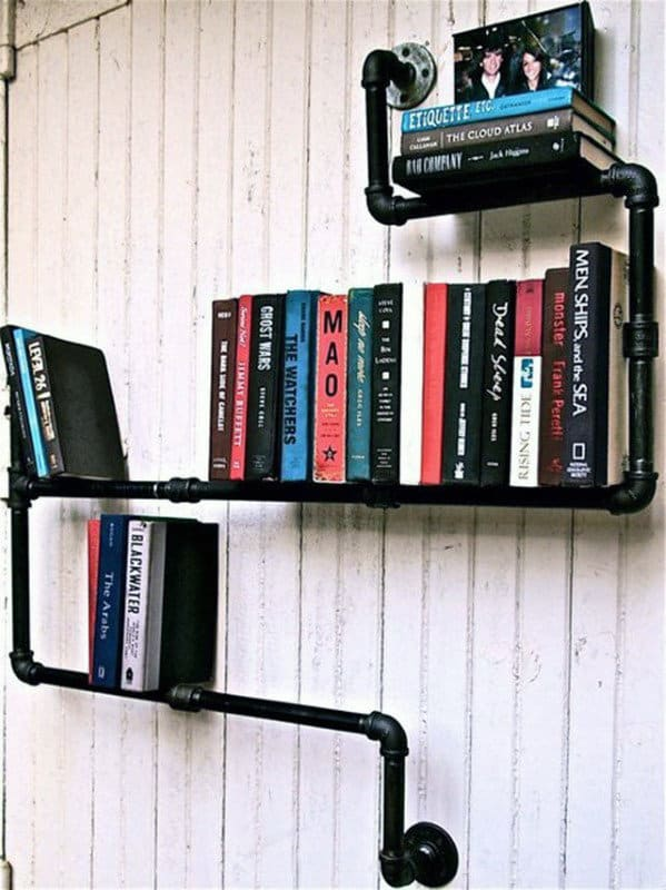 Industrial Man Cave Decor Book Shelf