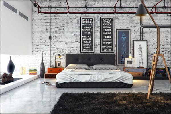industrial bedroom decor ideas