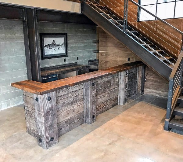 Industrial Rustic Bar Ideas
