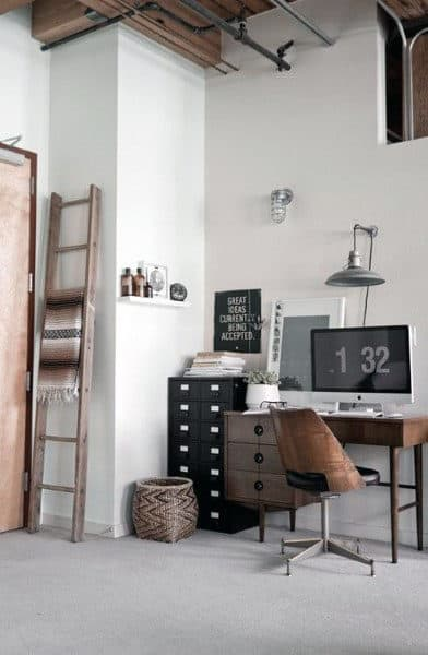 Industrial Small Home Office Ideas For Gentlemen