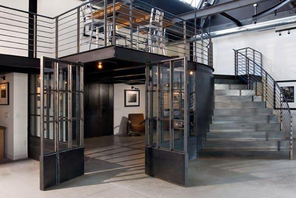 Industrial Steel Staircase Loft Ideas