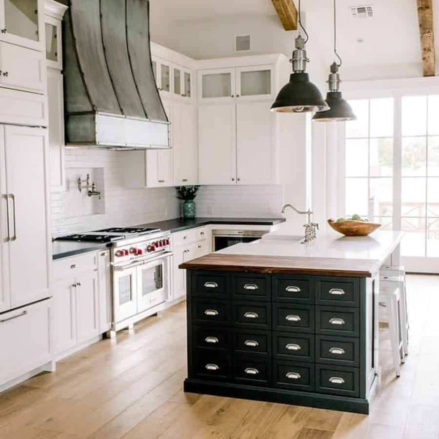 Industrial Touch Modern Farmhouse Kitchen Rafterhouse
