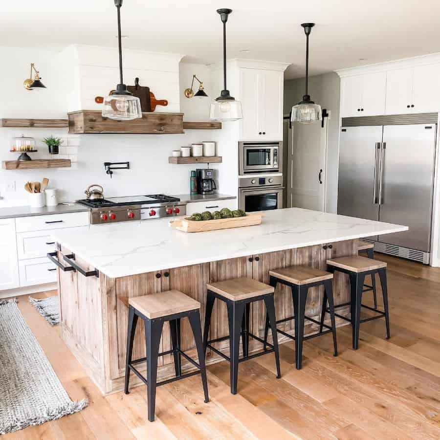 Industrial Touch Modern Farmhouse Kitchen Our Blended Build