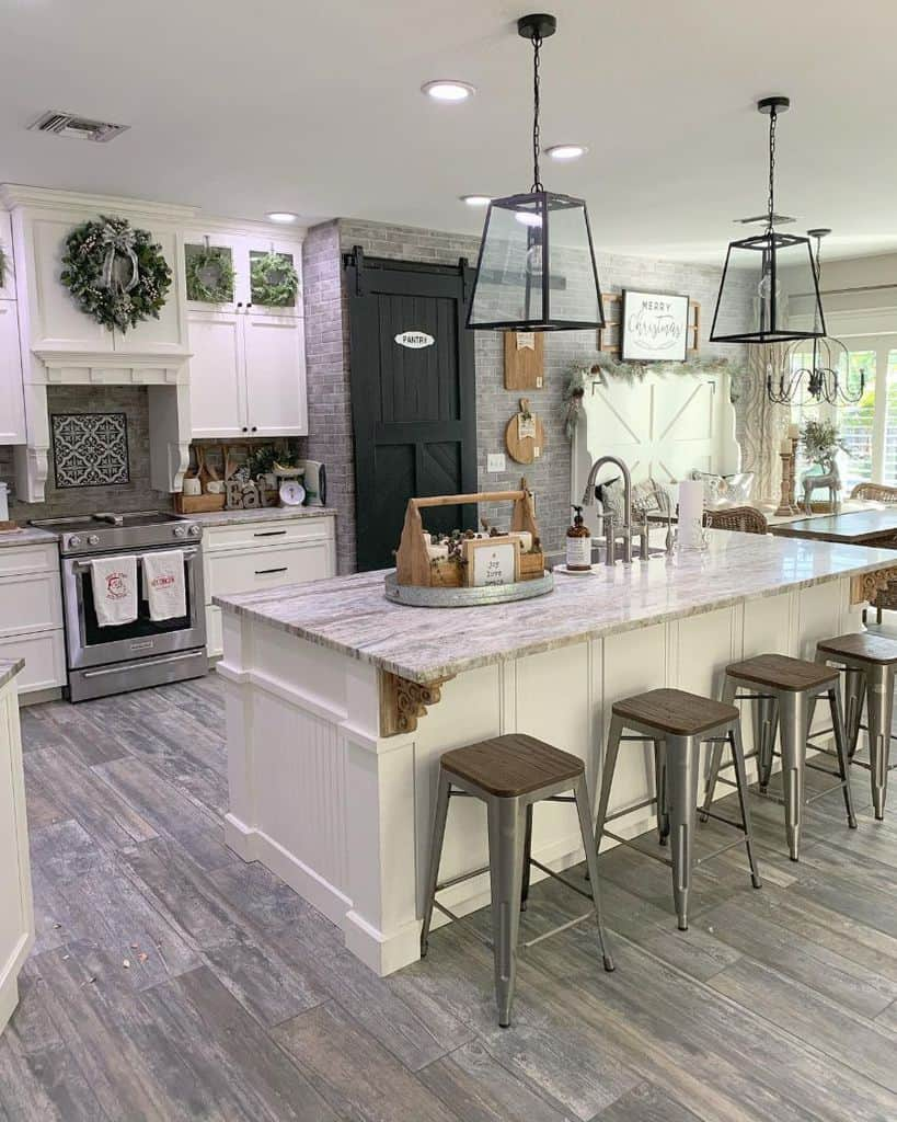 Industrial Touch Modern Farmhouse Kitchen Ourrusticparadise