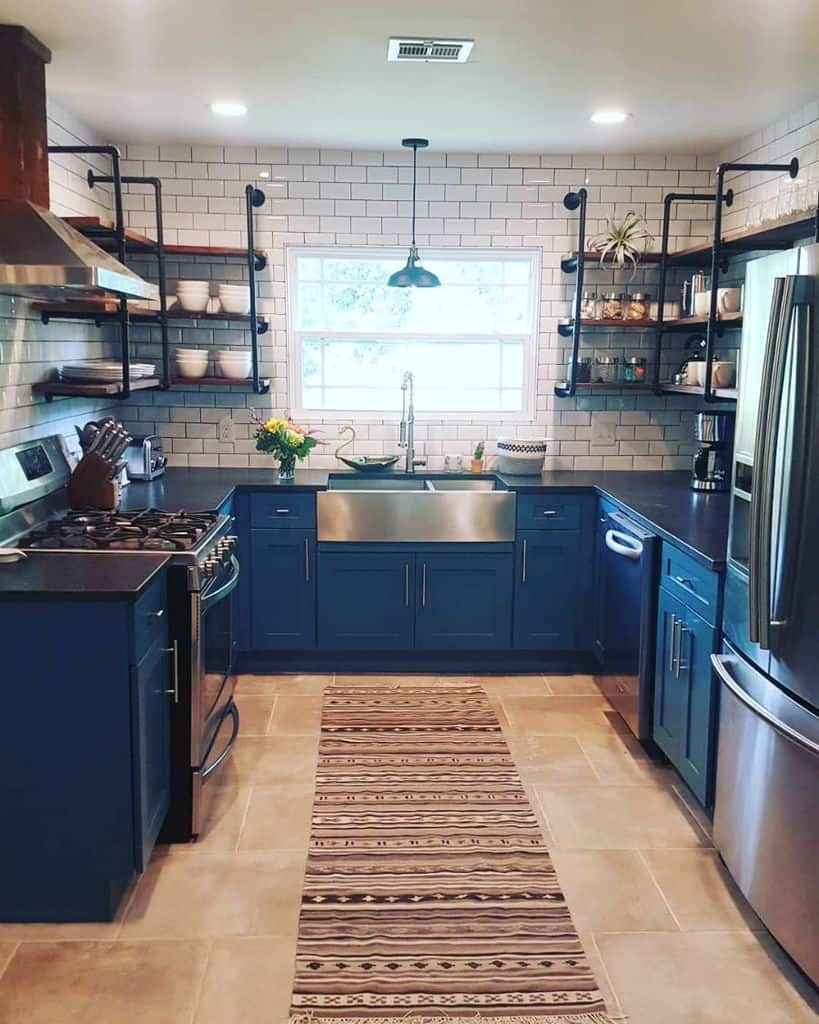 Industrial Touch Modern Farmhouse Kitchen Waycoolwaco