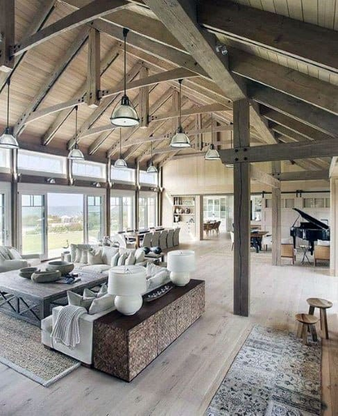 Industrial Traditional Look Wood Vaulted Ceiling Ideas