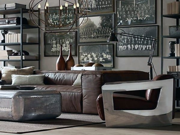 Industrial Vintage Bachelor Pad Furniture Designs