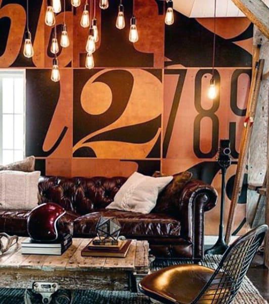 Industrial Vintage Living Room Ideas For Bachelor Pads