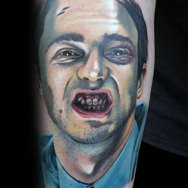 Inenr Forearm Fight Club Mens Tattoo Designs