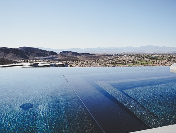 Infinity Edge Pool 2019 New American Home