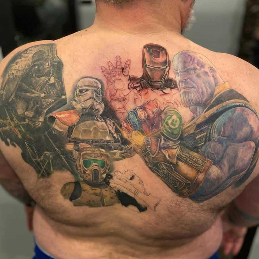 Infinity Gauntlet Thanos Tattoo Bobbytaz66