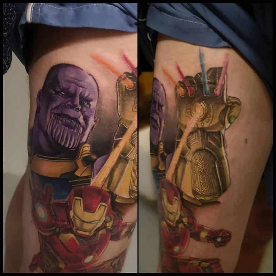 Infinity Gauntlet Thanos Tattoo Brad Angryelftattoo