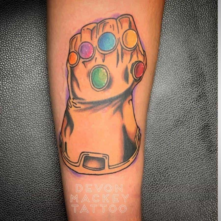 Infinity Gauntlet Thanos Tattoo Devonmackeytattoo