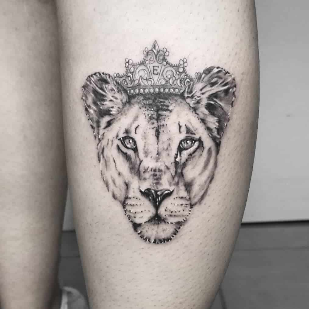 Ink Booster Lioness Tattoo