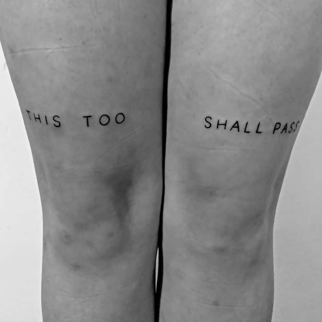 Ink Lover This Too Shall Pass Tattoo