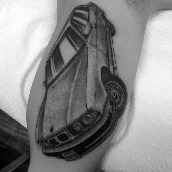Inner Arm Bicep 3d Bmw Tattoo For Men