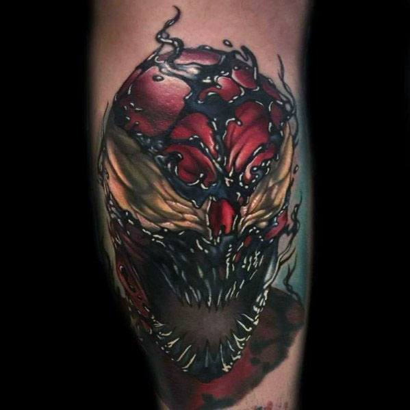Inner Arm Bicep 3d Mens Carnage Tattoo Ideas