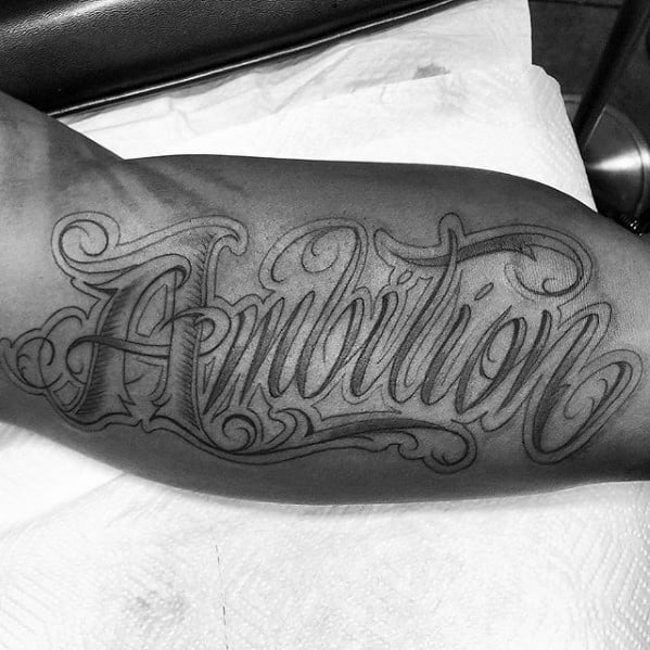 30 ambition tattoo design ideas for men word ink ideas