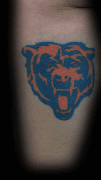 Inner Arm Bicep Cool Male Chicago Bears Tattoo Designs
