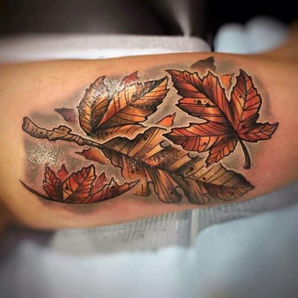 Inner Arm Bicep Fall Guys Tattoo Ideas