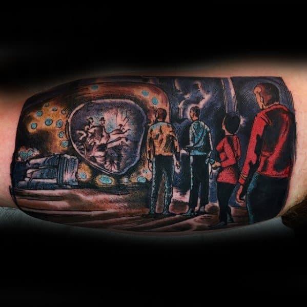 Inner Arm Bicep Unique Mens Star Trek Tattoos