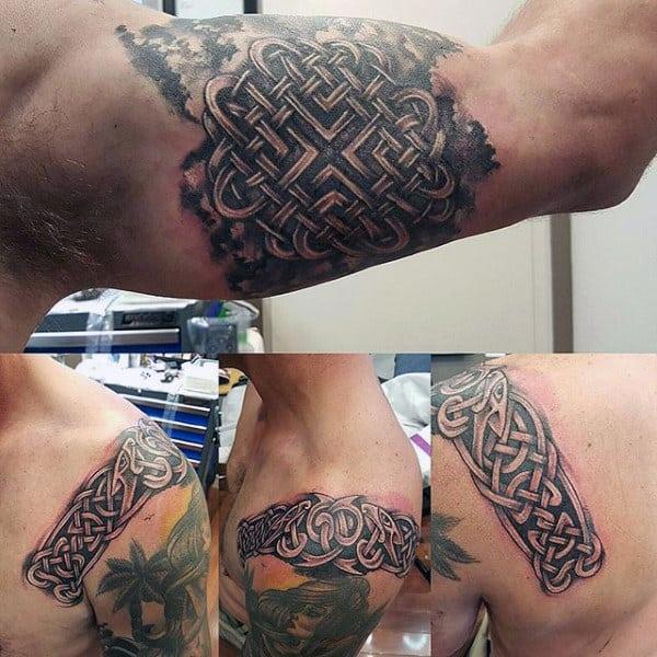 Inner Arm Celtic Knot Mens Tattoo Designs