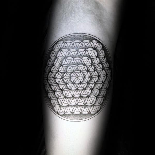 Inner Arm Flower Of Life Tattoos For Men