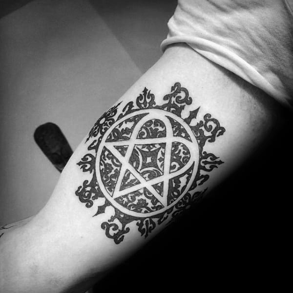 30 Heartagram Tattoo Designs For Men