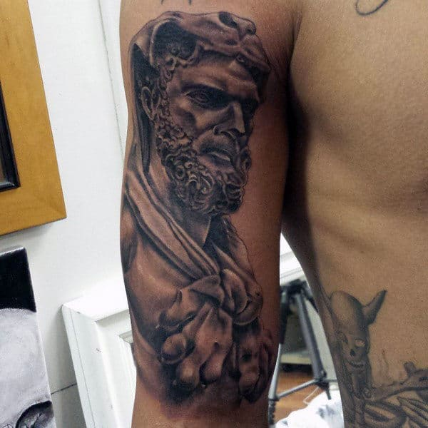 Inner Arm Hercules Tattoo Ideas For Guys