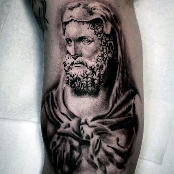 Inner Arm Hercules Tattoo On Male