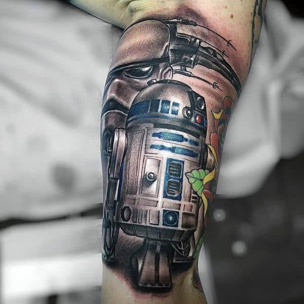 Inner Arm Male Star Wars Rd2d Tattoo
