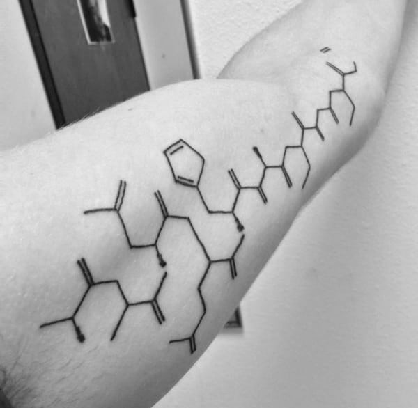 Inner Arm Male Tattoo Of Chemistry Structure