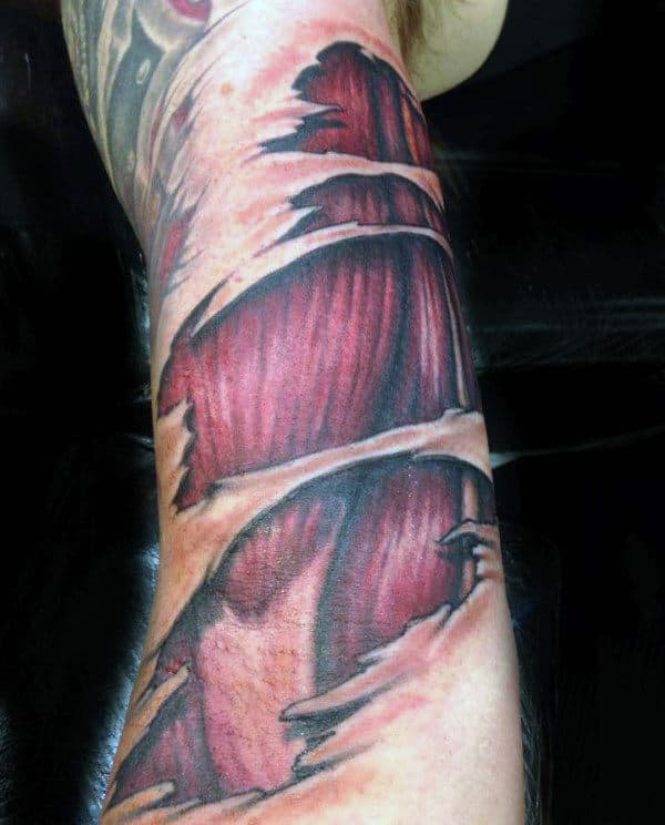Inner Arm Muscle Tattoos For Men