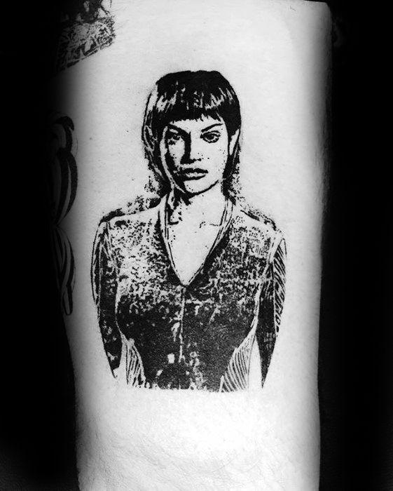 Inner Arm Small Detailed Star Trek Male Tattoos
