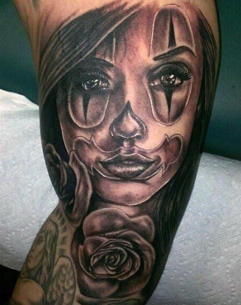 Portrait Inner Bicep Tattoos For Men