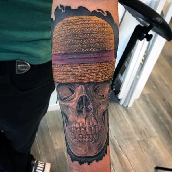 Inner Forearm 3d One Piece Tattoo Ideas On Guys