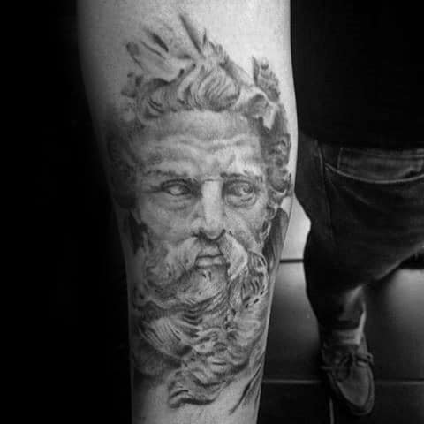 Inner Forearm Amazing Mens Socrates Portrait Tattoo Designs
