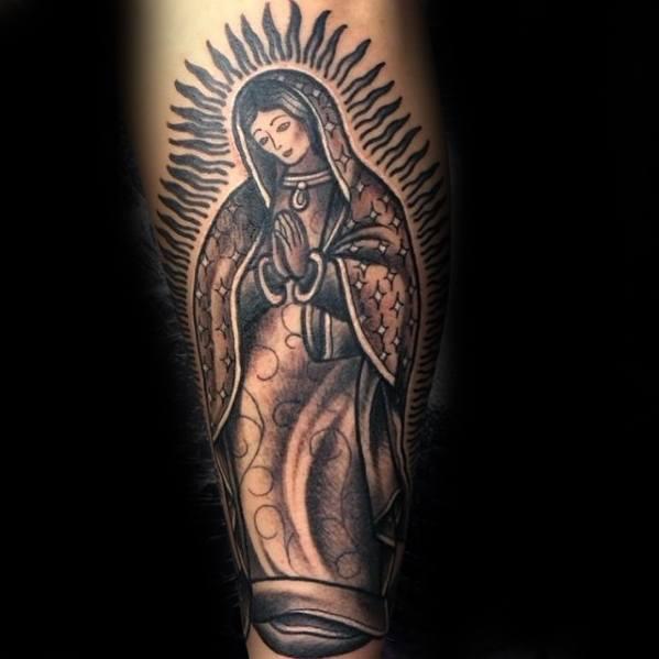 Inner Forearm Artistic Male Guadalupe Tattoo Ideas