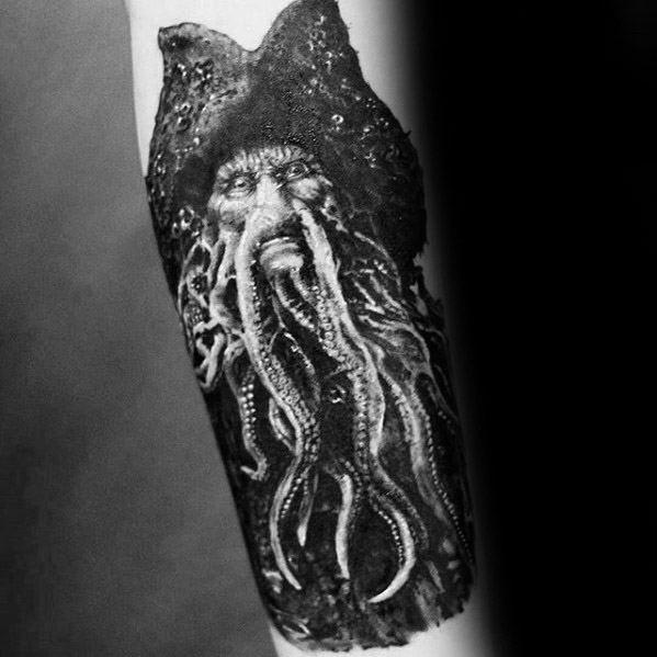 Inner Forearm Awesome Ink Davy Jones Tattoos For Men
