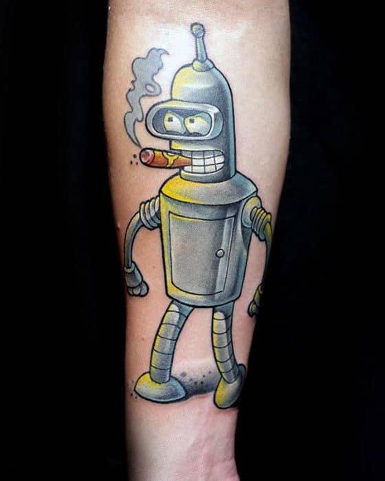 Inner Forearm Bender Cigar Forearm Tattoos For Men