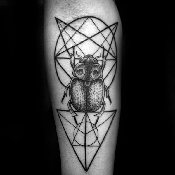 inner forearm bettle mens scarab tattoo ideas
