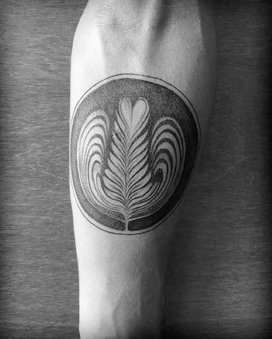 Inner Forearm Coffee Tattoo On Men