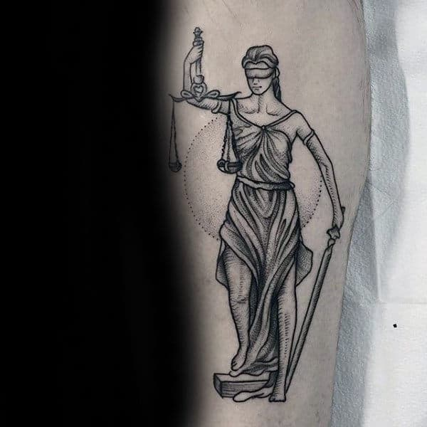 Inner Forearm Cool Guys Lady Justice Tattoo