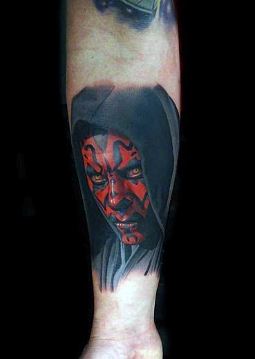 Inner Forearm Darth Maul Tattoo Design Ideas For Males