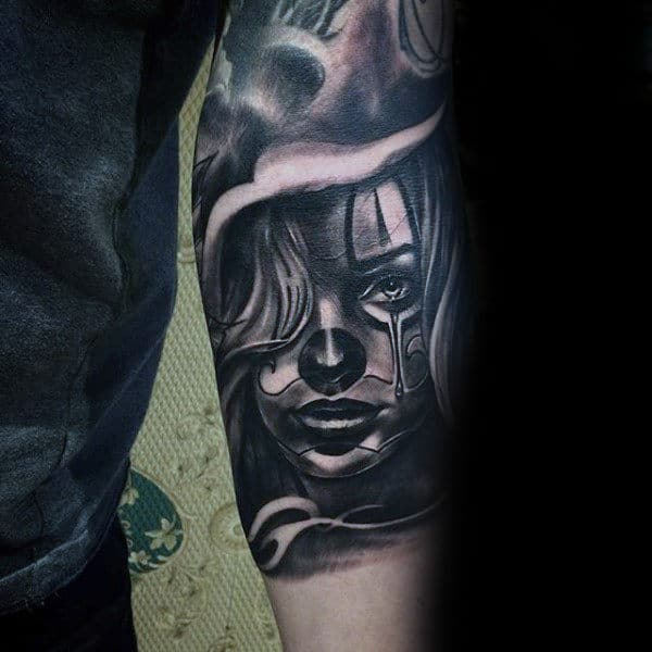 Inner Forearm Female Portrait Male Chicano Tattoos